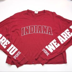 Victoria's Secret Pink Indiana Hoosiers Crop Top